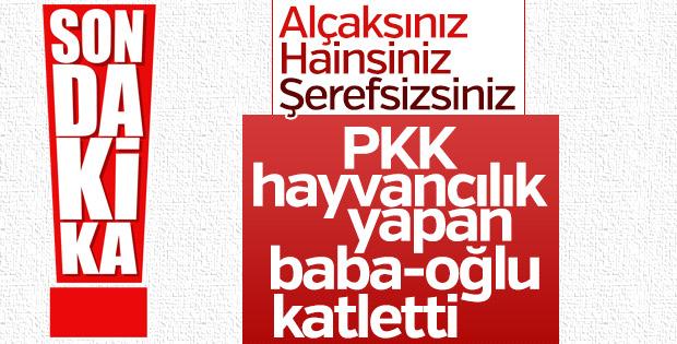 Diyarbakır'da PKK baba ve oğlunu öldürdü