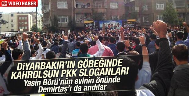 Diyarbakır sokakları 'Kahrolsun PKK' sloganıyla inledi