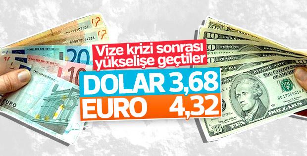 ABD ile vize krizi sonrası dolar yükseldi