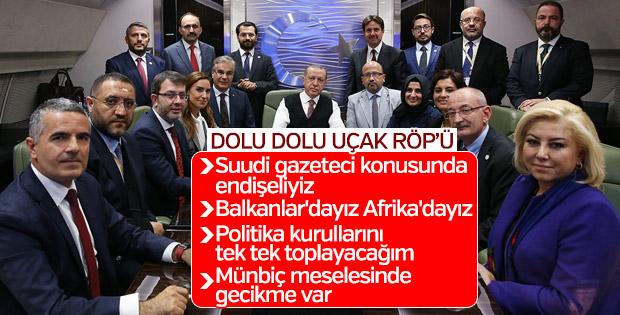 Başkan Erdoğan Budapeşte dönüşü basına konuştu