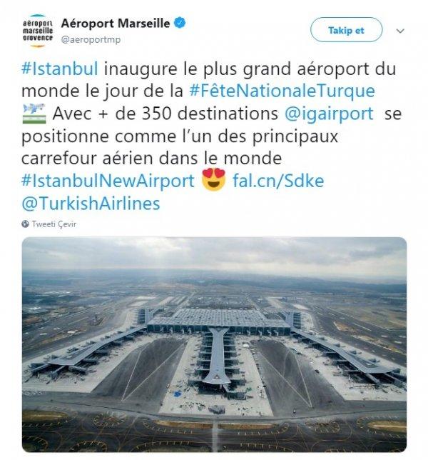 Fransızlardan İstanbul Havalimanı'na övgü