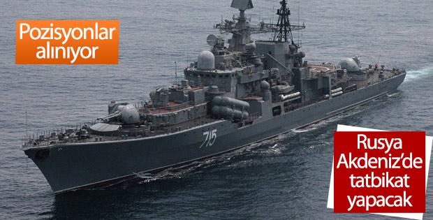 Rusya Suriye kıyılarında tatbikat yapacak