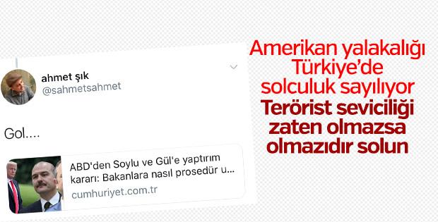 HDPKK'nın vekili Ahmet Şık ABD yalakalığı yaparken görüldü