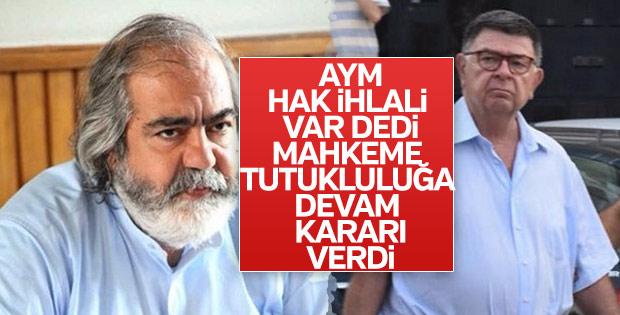 Mehmet Altan ve Şahin Alpay'ın tahliye talepleri reddedildi