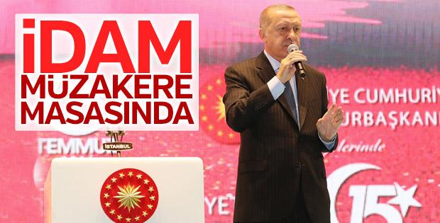 Başkan Erdoğan'ın Şehitler Köprüsü'ndeki konuşması