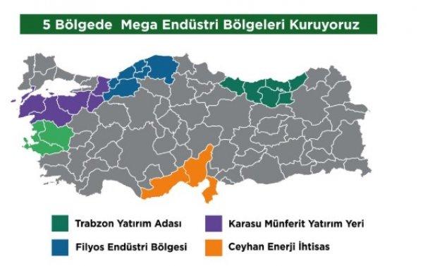 Mega Endüstri Bölgeleri kuruluyor