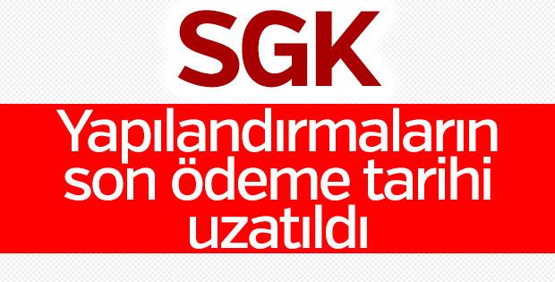 SGK yapılandırma süresini uzattı