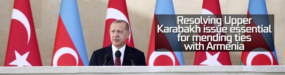 Erdoğan: Solving Upper Karabakh issue is vital