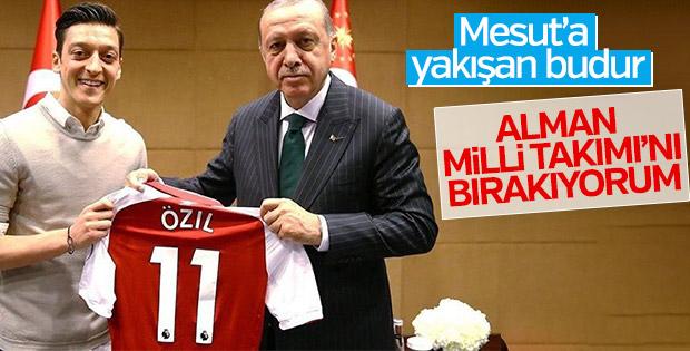 Mesut Özil, Almanya Milli Takımı'nı bıraktı