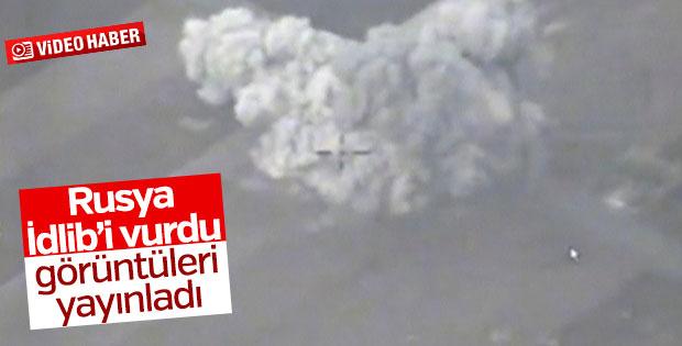 Rusya İdlib saldırısının görüntülerini paylaştı
