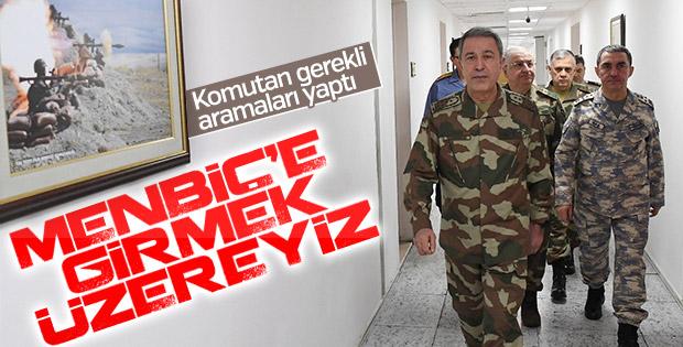 Türk askeri Menbiç'e girmeyi bekliyor