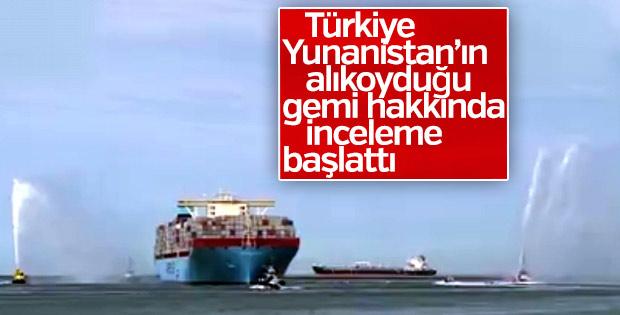 Türkiye Yunanistan'ın el koyduğu gemi için inceleme başlattı