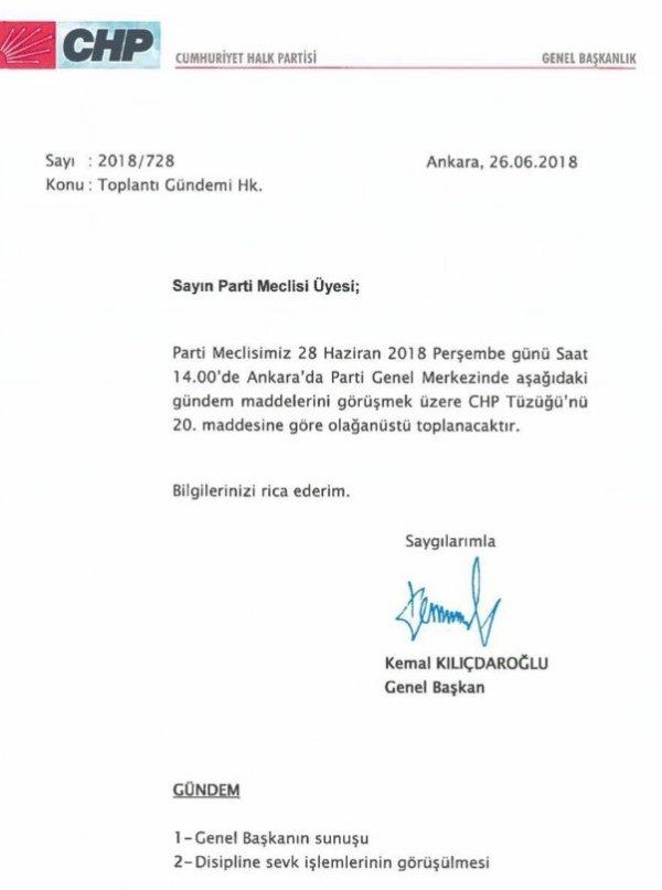 Kılıçdaroğlu istifasını isteyen 2 kişiyi ihraç edecek