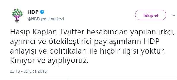 Hasip Kaplan'ın ırkçı sözleri HDP'yi gerdi