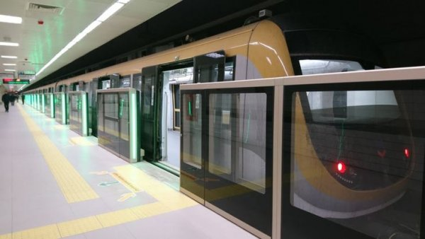 Sürücüsüz metroya 4 günlük birleştirme arası