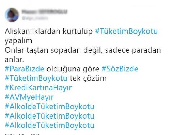 Sosyal medyada alkole boykot kampanyası