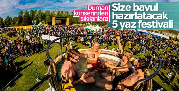Size bavul hazırlatacak 5 yaz festivali