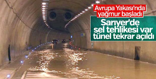 Sarıyer Tüneli sel nedeniyle kapandı