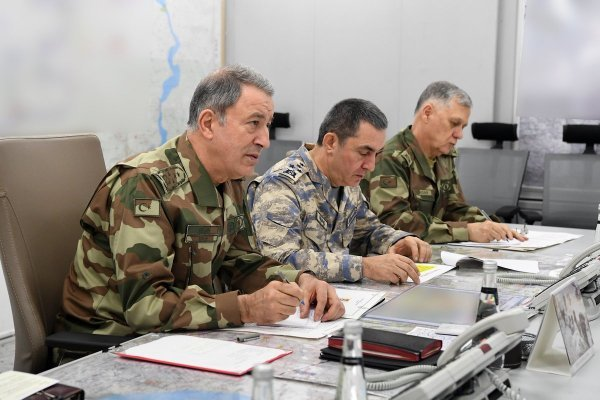 Top commander Hulusi Akar leads the Operation Olive Branch
