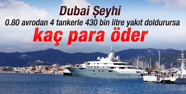 Dubai Şeyhi bir depo mazota 1 milyon 32 bin lira harcadı