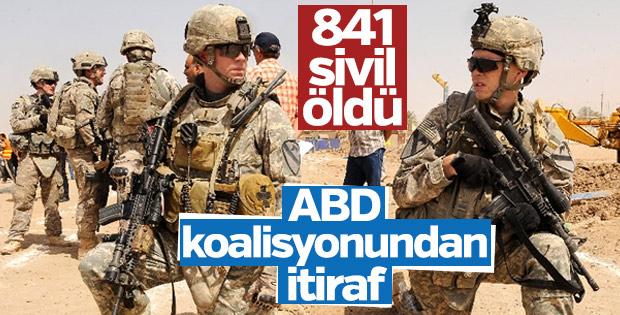 ABD öncülüğündeki koalisyon 841 sivili öldürdü