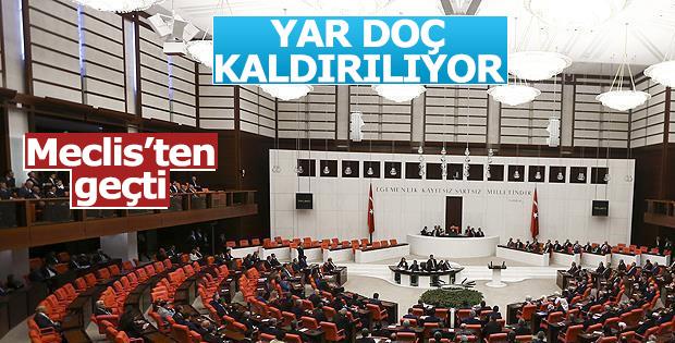 Yardımcı doçentlik yasası Meclis'ten geçti
