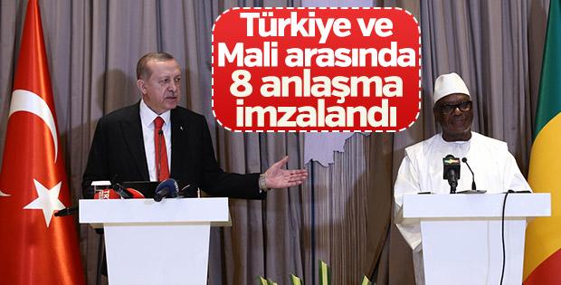 Türkiye ile Mali arasında 8 anlaşma imzalandı