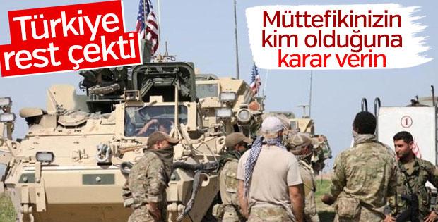 Mevlüt Çavuşoğlu: ABD müttefik konusunda karar versin