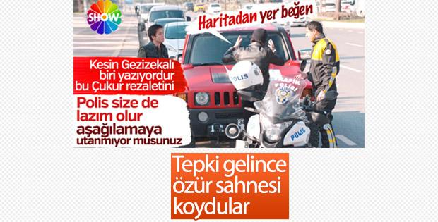 Çukur dizisi trafik polisinde özür diledi