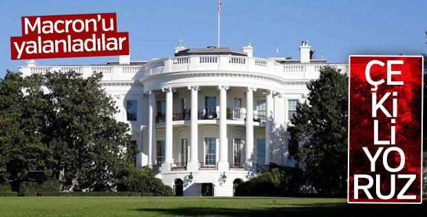 Beyaz Saray Macron'u yalanladı