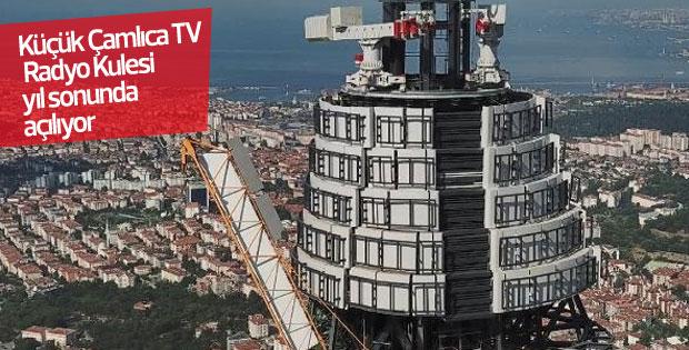 Küçük Çamlıca TV- Radyo Kulesi'nde çalışmalar sürüyor