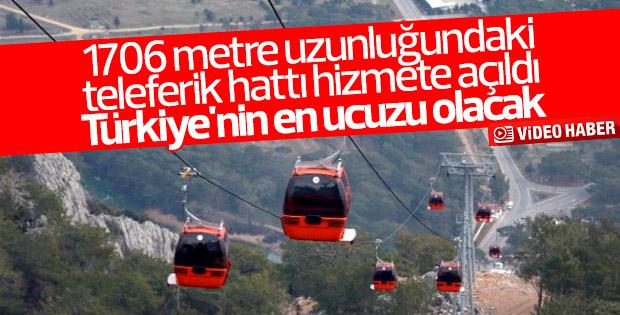 Antalya Tünektepe Teleferik hattı hizmete sunuldu