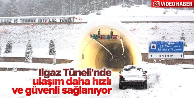 Ilgaz Tüneli sürücüleri artık korkutmuyor