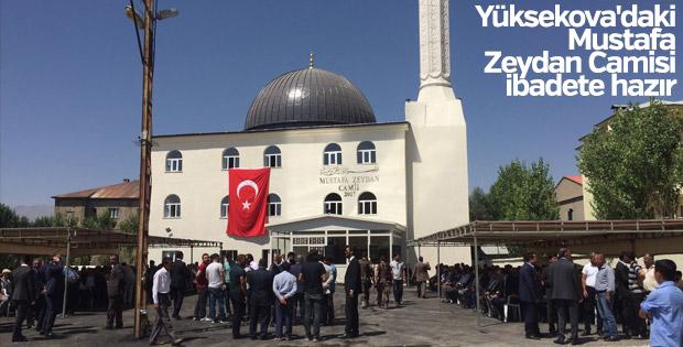 Yüksekova'daki Mustafa Zeydan Camisi ibadete hazır