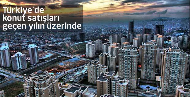 Türkiye'de konut satışları geçen yılın üzerinde seyrediyor