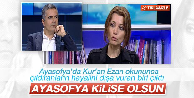 Elif Şafak Ayasofya kilise olsun dedi