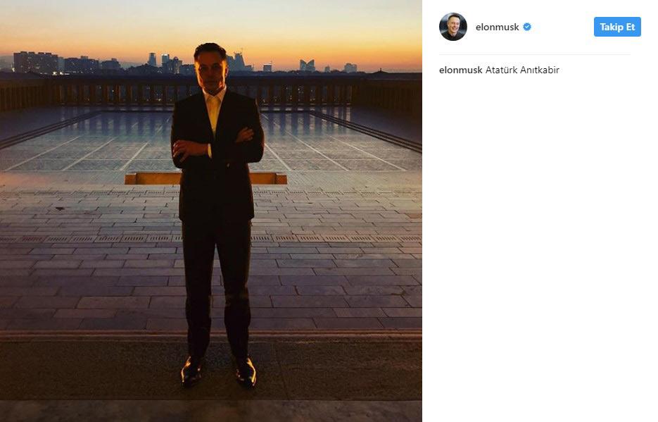 Elon Musk, Anıtkabir'i ziyaret etti