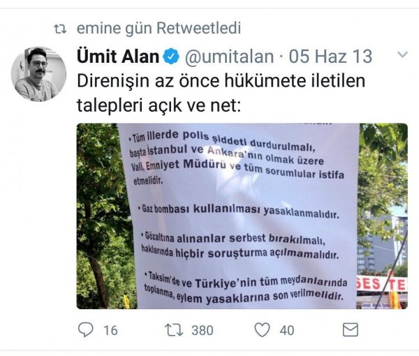 Şehit emanetine haciz isteyen avukatın Gezi paylaşımları