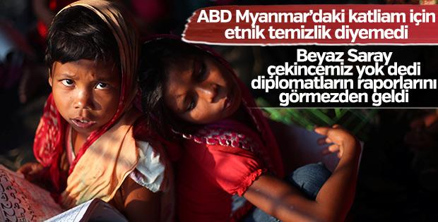 ABD Arakan'daki katliama etnik temizlik diyemiyor