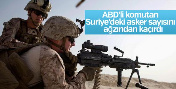 ABD'li komutan Suriye'deki asker sayısını açıkladı