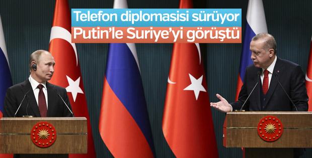 Cumhurbaşkanı Erdoğan ile Putin arasında Suriye görüşmesi
