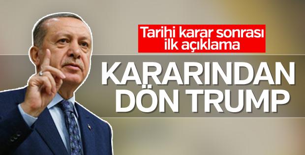 BM kararı sonrası Erdoğan'dan ilk açıklama