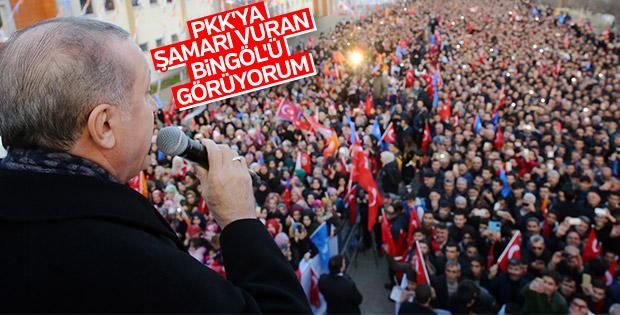 Bingöl'de Cumhurbaşkanı Erdoğan'a sevgi seli
