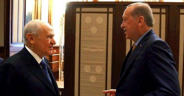 Erdoğan ve Bahçeli'nin çay sohbeti