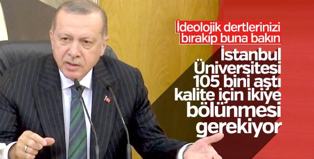 Cumhurbaşkanı Erdoğan'ın İstanbul Üniversitesi yanıtı