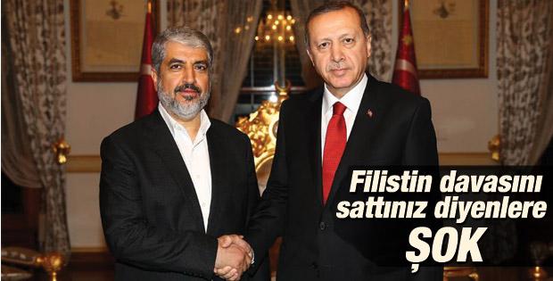 Cumhurbaşkanı Erdoğan Halid Meşal'i kabul etti