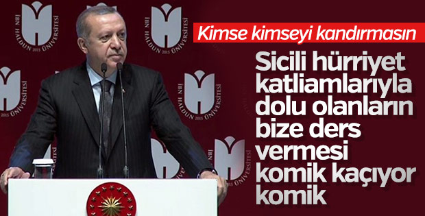 Erdoğan'dan gündeme ilişkin açıklamalar