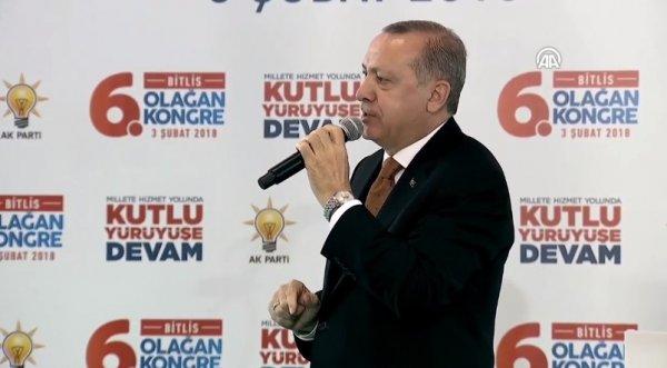 Cumhurbaşkanı Erdoğan'ın Bitlis konuşması
