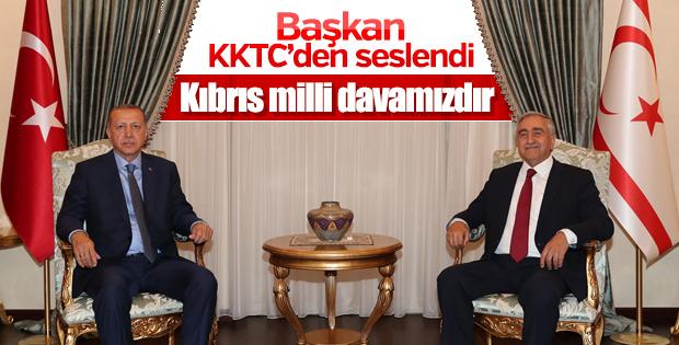 Başkan Erdoğan-Mustafa Akıncı ortak açıklaması