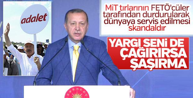 Erdoğan'dan Kılıçdaroğlu'na: Seni de çağırırlarsa şaşırma